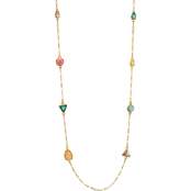Carol Dauplaise Goldtone Multi-Colored Long Station Necklace