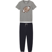 Buzz Cuts Little Boys 2 pc. Football Sequin Tee and Jogger Set