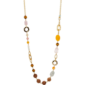 Carol Dauplaise Goldtone Multi Colored Beaded Long Linked Necklace