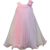 Bonnie Jean Infant Girls Crystal Pleated Dress