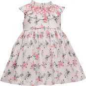 Bonnie Jean Toddler Girls Toile Smocked Dress