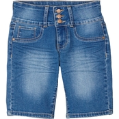 YMI Jeans Girls Triple Button Bermuda Shorts