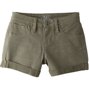 YMI Jeans Girls Rolled Cuffed Twill Shorts