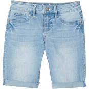 YMI Jeans Girls Cuffed Denim Bermuda Shorts