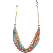 jules b Tequila Sunrise Multi Row Seed Bead 22 in. Necklace
