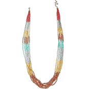 jules b Tequila Sunrise Colorblock Seed Bead 29 in. Necklace
