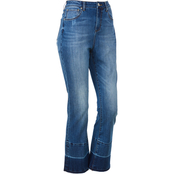 JW 27 High Rise Flare Crop Release Hem Jeans