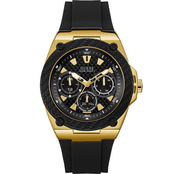 Guess Men's Goldtone and Black Multifunction Watch U1049G5