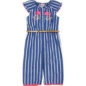 Little Lass Toddler Girls Stripe Woven Jumpsuit