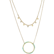 Panacea Mint Color Block Necklace