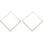 Panacea Square Crystal Earrings