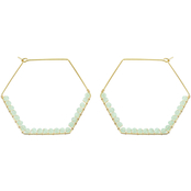 Panacea Crystal Geometric Hoop Earrings