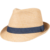Levi's Straw Fedora with Twill Band