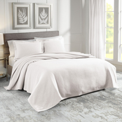 Realeza Sunset European Matelasse Coverlet Set