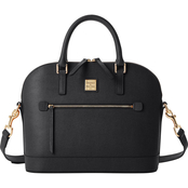 Dooney & Bourke Saffiano II Domed Zip Satchel