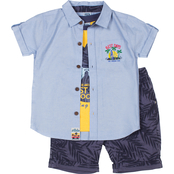 Little Lads Toddler Boys Just Be Cool 3 pc. Shorts Set