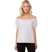 Michael Kors Jacquard Shirred Knit Top