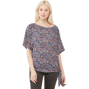 Michael Kors Dainty Bloom Side Tie Top