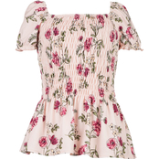 Speechless Girls Smocked Floral Top