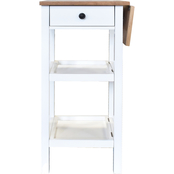 Steve Silver Colmar White Kitchen Cart