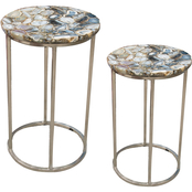 Steve Silver Onyx Agate Top Nesting Table 2 pc. Set