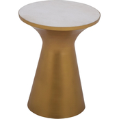 Steve Silver Jaipur Round Table with White Marble Inlay