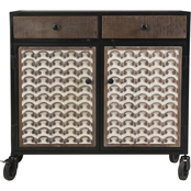 Steve Silver Garrett Accent Cabinet with Casters