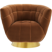 Steve Silver Hanna Velvet Swivel Chair
