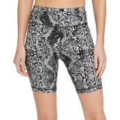 DKNY Sport Snake Print High Waist Bike Shorts
