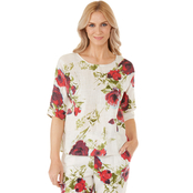 Passports Big Floral Print Woven Top
