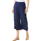 Passports Wide Leg Crop Pants