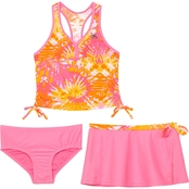 ZeroXposur Little Girls Rainforest Riot 3 pc. Swim Set