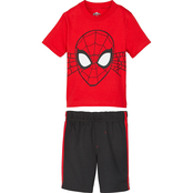 Marvel Toddler Boys Spider-Man Shirt and Shorts 2 pc. Set