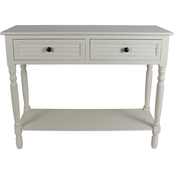 Decor Therapy Simplify Shutter Drawer Console Table