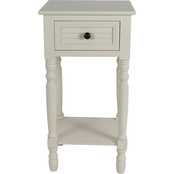 Decor Therapy Simplify Shutter 1 Drawer Accent Table