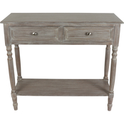 Decor Therapy Simplify 2 Drawer Console Table