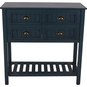 Decor Therapy Bailey Bead board 4 Drawer Console Table