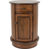 Decor Therapy Keaton Round Storage Side Table