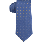 Michael Kors Business Dot Overlay Silk and Linen Neck Tie
