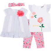 Little Lass Infant Girls Tops and Capri Pants 3 pc. Set