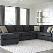 Signature Design by Ashley Eltmann 4 pc. Sectional with RAF Chaise and LAF Sofa