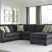 Signature Design by Ashley Eltmann 3 pc. Sectional with RAF Chaise and LAF Sofa