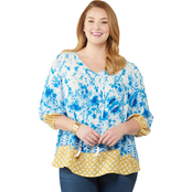 Status By Chenault Plus Size Peasant Top