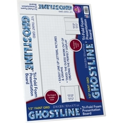 Ghostline Tri Fold Foam Poster Board 28 in. x 22 in., White