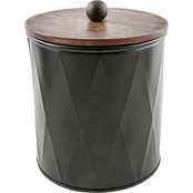Thirstystone Large Faceted Black Metal Canister