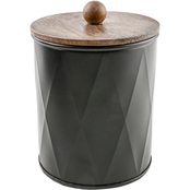 Thirstystone Medium Faceted Black Metal Canister