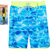 ZeroXposur Boys Shark Pool Swim Shorts