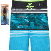 ZeroXposur Boys Tropic Stripe Swim Shorts