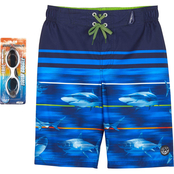 ZeroXposur Boys Frenetic Swim Shorts with Goggles