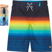 ZeroXposur Boys Reef Stripes Swim Shorts